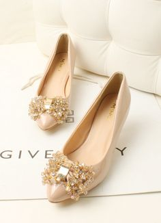 shoes - http://zzkko.com/n226619-ixue2013-quality-New-resplendent-diamond-beaded-bow-pointed-stiletto-shoes.html $31.36