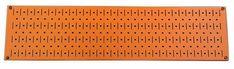 8in x 32in Horizontal Orange Metal Pegboard Tool Board Panel