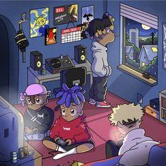sad very sad Cartoon Wallpaper, Rapper Wallpaper Iphone, Rap Wallpaper, Dope Cartoons, Dope Cartoon Art, Cartoon Kunst, Arte Do Hip Hop, Hip Hop Art, Rap Art