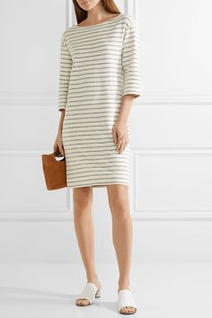 By Malene Birger | Striped cotton-terry dress | NET-A-PORTER.COM
