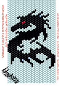 Schéma tissage peyote dragon