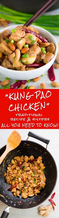 KUNG PAO CHICKEN RECIPE & HISTORY - all you need to know! - Kung Pao Chicken: one of the most popular and distorted Chinese recipes! Here the history of this tasty dish, and the recipe of Sichuan and Western versions: the choice is yours!  - TAGS: Chinese paleo family dinner meal Asian sauce creamy healthy recipe party world recipes