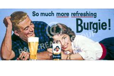Vintage Retro Lucky Lager Beer Billboard Poster http://www.realretrosource.com