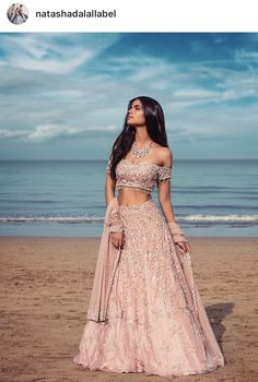 Beautiful Indian Ethnic Outfit for bride - Wedding Ceremony Indian Lehenga, Indian Gowns, Indian Attire, Pakistani Dresses, Indian Wear, Pink Lehenga, Indian Wedding Lehenga, Indian Party Wear, Indian Bridal Outfits