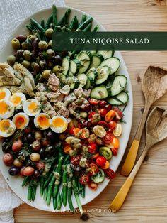 Summer Salad Recipes, Tuna Recipes, Summer Salads, Whole Food Recipes, Fresh Fruits And Vegetables, Veggies, Tuna Nicoise Salad, Blanching Green Beans, Freezable Meals