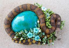 """""""Snakeling's Garden I"""" by Sandra Lee Childs."""