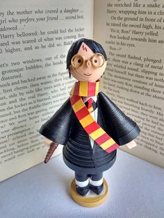 Harry Potter figurine of paper quilling