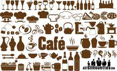 飲食店のメニュー作成に重宝しそう! グラス、ボトル、ドリンク、コック、ポット、カップ、ピザ、バスケット、ミル、…
