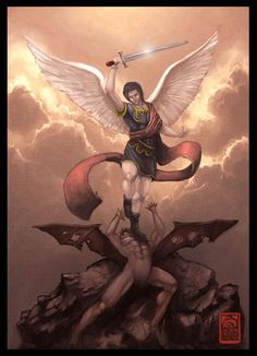 Batman and Superman are nice, but Michael the Archangel fought Satan :) Christian Artwork, Christian Images, Angels Among Us, Angels And Demons, St Micheal, Saint Michael, Corel Draw X3, St Michael Tattoo, Angel Hierarchy