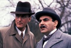 Hastings (Hugh Fraser) and Poirot (David Suchet)