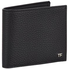 TOM FORD Grain Leather Bifold Wallet (525 CAD) ❤ liked on Polyvore featuring men's fashion, men's bags и men's wallets