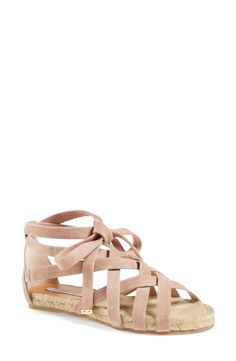 Soft suede straps give these Diane von Furstenberg sandals such a feminine touch. The laces even tie up to a cute bow at the ankle!