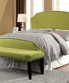 Look at this Green Dalean Upholstered Headboard & Footboard Bench on #zulily today!