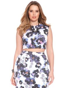 I found this at ELOQUII.com + I wanted to share it with you! Click on the image above to get $20 off your next order. Studio African Violet Crop Top $68