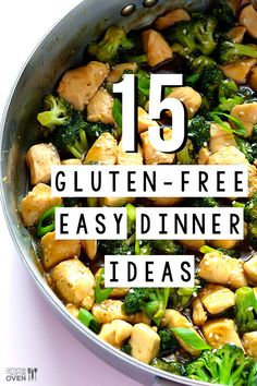 ) Dinner Ideas {Gimme Some Oven} (looks like most of these could be made vegan pretty easily) 15 Gluten-Free (Easy!) Dinner Ideas {Gimme Some Oven} (looks like most of these could be made vegan pretty easily) Gf Recipes, Dairy Free Recipes, Healthy Recipes, Gluten Free Dinners Easy, Celiac Recipes, Easy Dinners, Wheat Free Recipes, Celiac Food, Easy Recipes