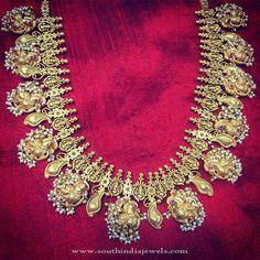 Antique Pearl Necklace Designs, Gold Antique Pearl Necklace Designs.