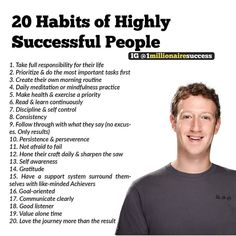 Heres 20 habits of successful people. comment below what you think. motivation quotes quotes quotes service quotes birthday quotes quotes beginning quotes kiyosaki people quotes Quotes Dream, Life Quotes Love, Style Quotes, Motivational Quotes For Success, Positive Quotes, Inspirational Quotes, Positive People, Business Motivation, Business Quotes