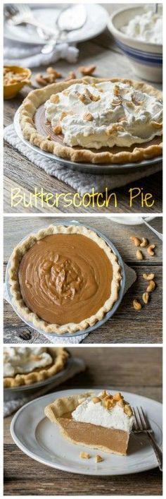 Old Fashioned Butterscotch Pie   www.savingdessert.com