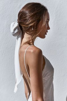 Side shot of bride wearing Grace Loves Lace Silk Hair Bun and pearl earrings Boho Bridal Hair, Headpiece Wedding, Wedding Veils, Bun Hairstyles, Wedding Hairstyles, Lace Bride, Silk Hair, Lace Silk, Grace Loves Lace
