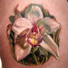 Orchid Tattoo by Dongkyu Lee aka Q-Tattoos (FY Ink Toronto)