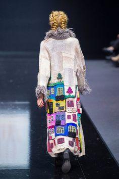 Knitted coat handmade HUNDERTWASSER for girls and от annalesnikova