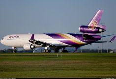 Thai Airways International McDonnell-Douglas MD-11 during takeoff run at Melbourne