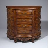 Found it at Wayfair - Four Drawer Demilune Chest in Cherry