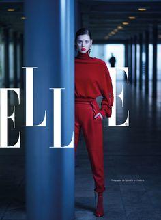 Anais Pouliot by Benjamin Kanarek for Elle Vietnam Aug 2017 - Jatual leather pants