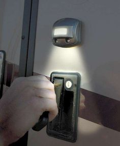 RV Nightowl - Motion Activated Light I could use one of these on the door and over the toilet in the Colby T.