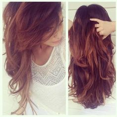 Want to try with red  Brown ombre hair!