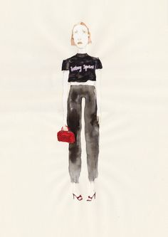 """Britney Spears"" Original Artwork via fridawannerberger (the shop). #fashionillustration #fridawannerberger #illustration #drawing #fashion #painting"