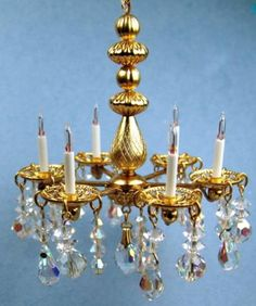 9 light chandelier with crystals by Mr K