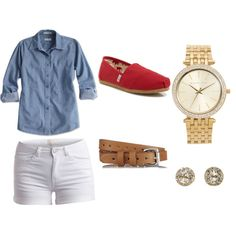 . by maria-diarte on Polyvore featuring polyvore fashion style Pieces TOMS EF Collection Michael Kors rag & bone