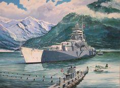 Tirpitz with Torp Raid Friend (U-Boat)