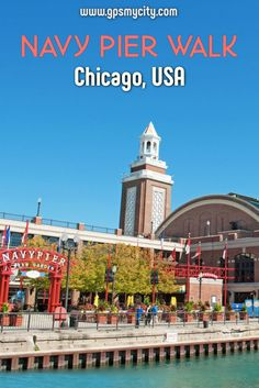 The Navy Pier offers a variety of attractions on the waterfront that draw nearly ten million people annually, making this Chicago's most visited spot. Take this self-guided walk to make your visit easier to navigate – and don't forget the fireworks on Wednesdays and Saturdays in the summer!  #NavyPierChicago #ChicagoGuide #NavyPierWalk #ChicagoSelfGuided #GPSmyCity #ChicagoWalk #NavyPierAttractions Us Travel Destinations, Best Travel Guides, Travel Tips, Navy Pier Chicago, Usa Travel, Walking Tour, Fireworks, Adventure Travel, Don't Forget