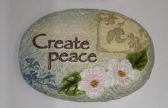 Create Peace Message Stone Peace Messages, Lawn And Garden, Outdoor Gardens, Decorative Plates, Stone, Create, Patio, Amazon, Home Decor