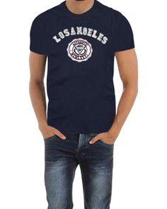 Camiseta Aerox Fit Los Angeles Azul - http://www.compramais.com.br/masculino/camisetas/camiseta-aerox-fit-los-angeles-azul/