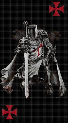 Crusaders+Knights+Warriors+cross+stitch+pattern+in+pdf+DMC