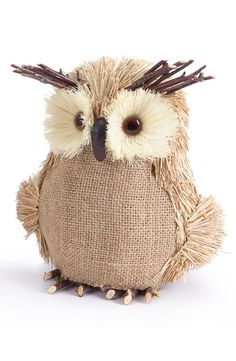 Cute burlap owls - Google Search
