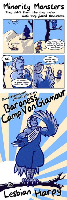 Minority Monsters 8: Baroness Camp Von Glamour the Lesbian Harpy