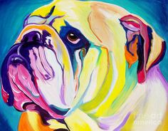 Bulldog - Bully Painting  - Bulldog - Bully Fine Art Print