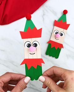 Popsicle Stick Christmas Crafts, Fun Christmas Activities, Preschool Christmas Crafts, Christmas Crafts For Kids To Make, Christmas Ornament Crafts, Xmas Crafts, Craft Stick Crafts, Halloween Crafts, Christmas Diy