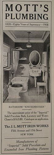 An old plumbing ad from 1908! All of the fixtures cost just over $100.