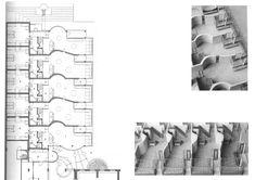 Aldo Van Eyck Hubertus House, at Amsterdam, The Netherlands, Amsterdam, Architecture Drawings, Architecture Plan, Aldo Van Eyck, Steven Holl, Netherlands, Photo Wall, Floor Plans, House