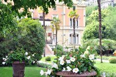 Flowered corner at Villa Feltrinelli. #villafeltrinelli #grandhotel #flowers #details #privatepark #garden