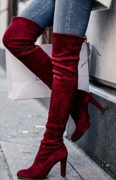 Fashion New Burgundy women boots cheap martin boots hot item is shipped in 72 hours.Long boots make your legs look long, it makes your temperament look good. Low-heeled design allows you to walk very smoothly, it is one of the Highlights of thes Thigh High Boots Heels, Knee Boots, Heeled Boots, Bootie Boots, Boot Heels, Red Knee High Boots, High Shoes, Shoes Heels, Red Heels