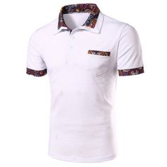 Men Polo Shirt Casual Male Short Sleeve Breathable Polo Shirt Plus Size Turn Down Collar
