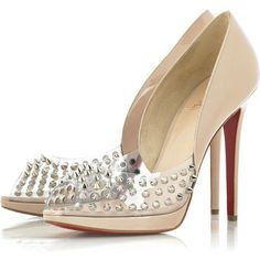Christian Louboutin Engin Spike Patent Pump nude