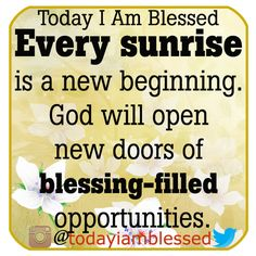 The mercy and grace of God are new every morning. AMEN.
