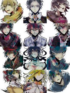 epic durarara art  - Durarara!! Kida , Mikado , Anri , Izaya , Shinra ,Shizuo , Rokujo, Celty ,Kadota , Kujiragi , Varona , Aoba